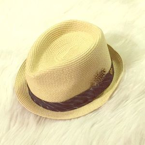 Juicy Couture Straw Fedora hat